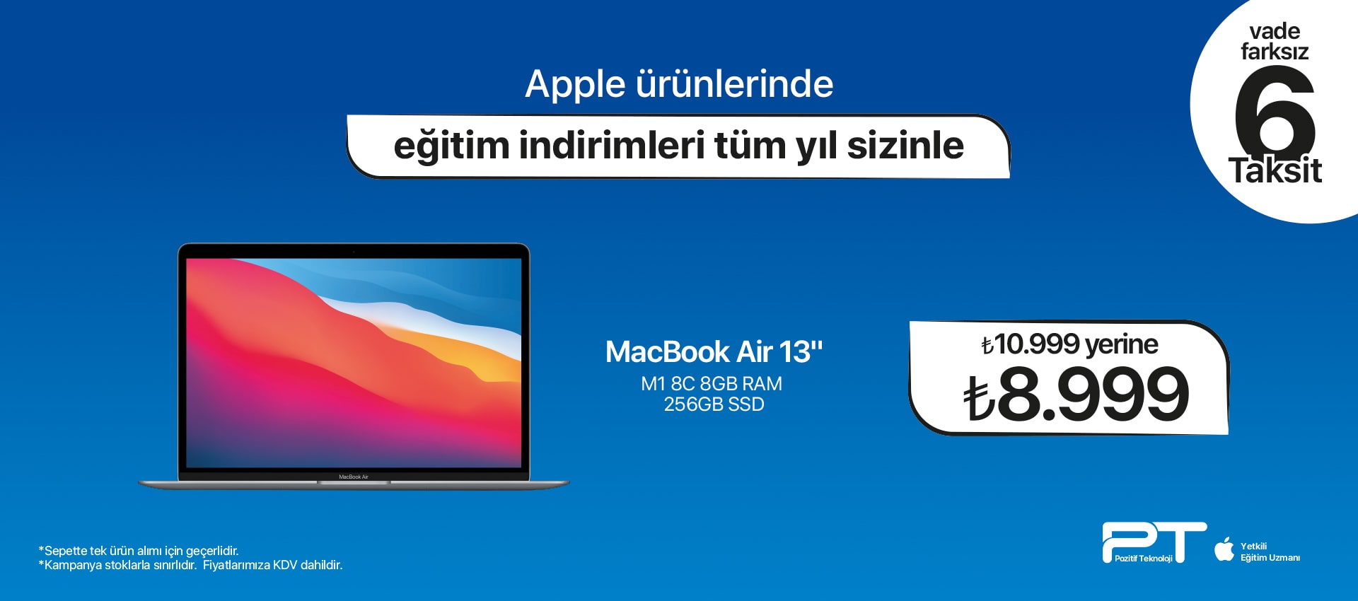 macbook  Air 6 Taksit NEW