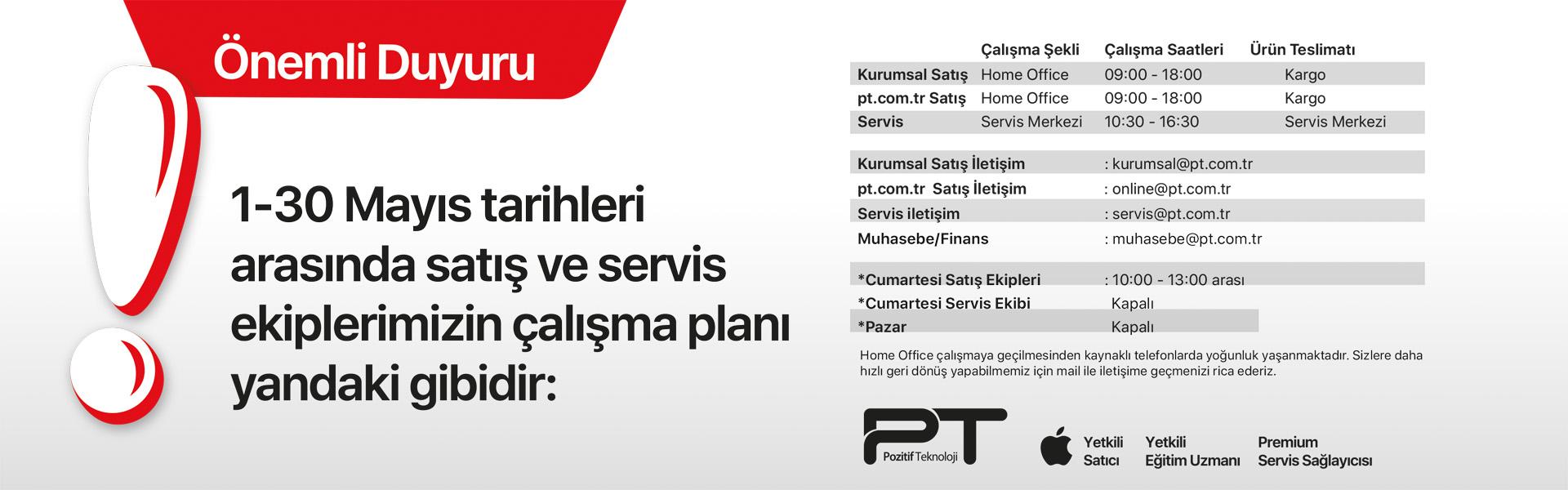 Pt Çalışma / Saatleri Evde Kal Türkiye