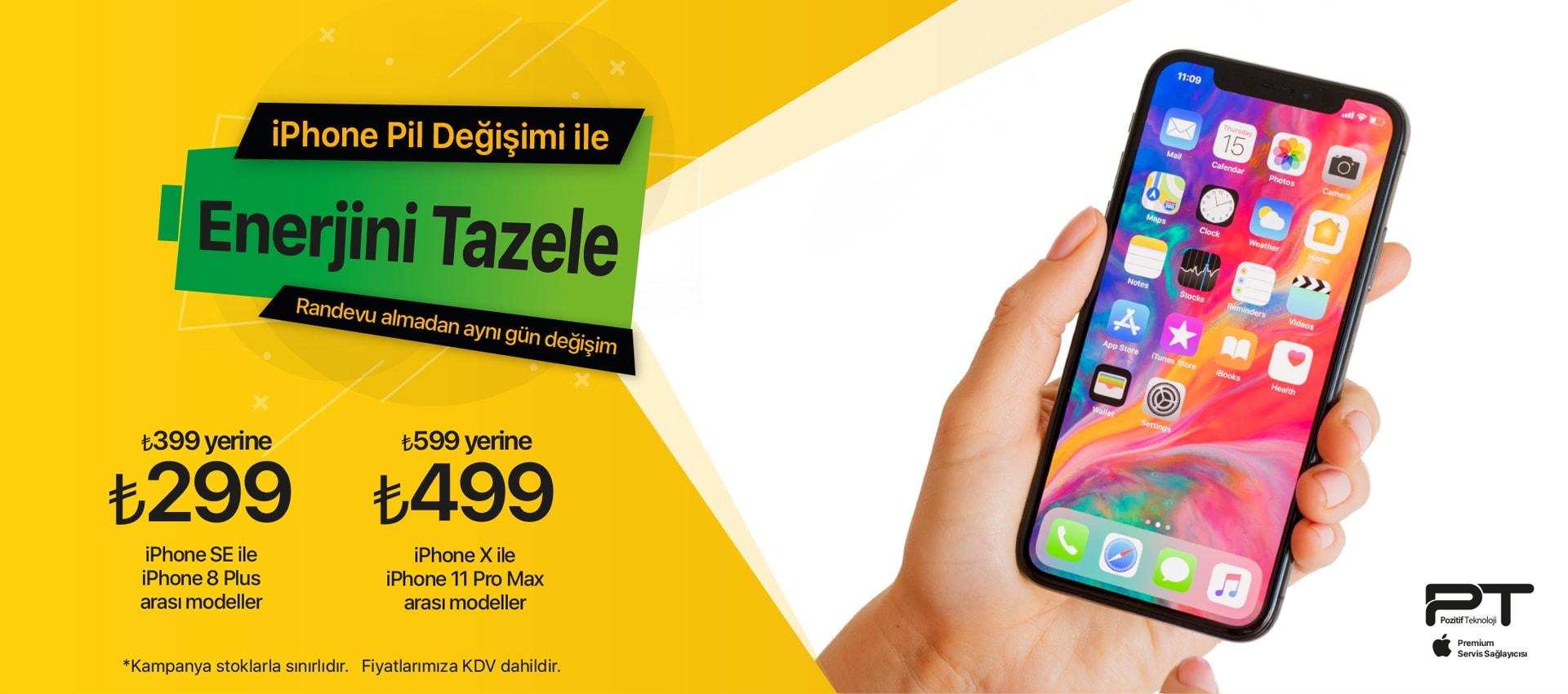 iPhone Pil değişimi Kampanyası