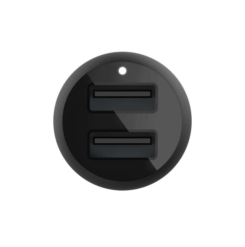Belkin 24W Hızlı Araç Şarj Cihazı (2 Port) USB-C Kablo - Siyah CCE001BT1MBK