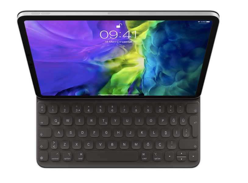 11 inç iPad Pro (2. nesil için) Smart Keyboard Folio Türkçe Q Klavye MXNK2TQ/A