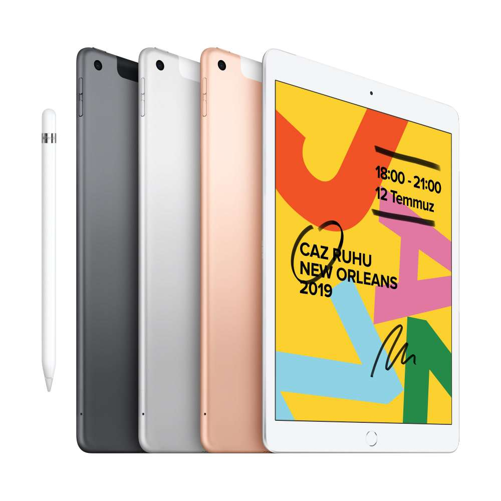 iPad 10.2 inç Wi-Fi + Cellular 32GB Uzay Grisi MW6A2TU/A