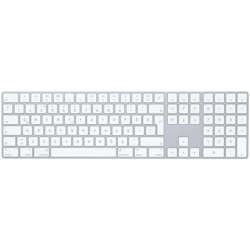 Magic Keyboard Numerik Alanlı Türkçe Q Klavye - Gümüş