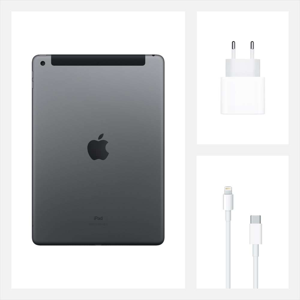 iPad 10.2 inç Wi-Fi + Cellular 32GB Uzay Grisi MYMH2TU/A