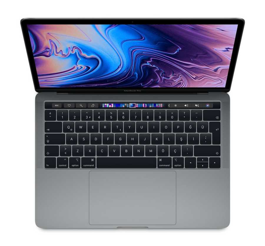 MacBook Pro 13 inç Touch Bar 1.4GHz QC i5 8GB RAM 256GB SSD Uzay Grisi MUHP2TU/A