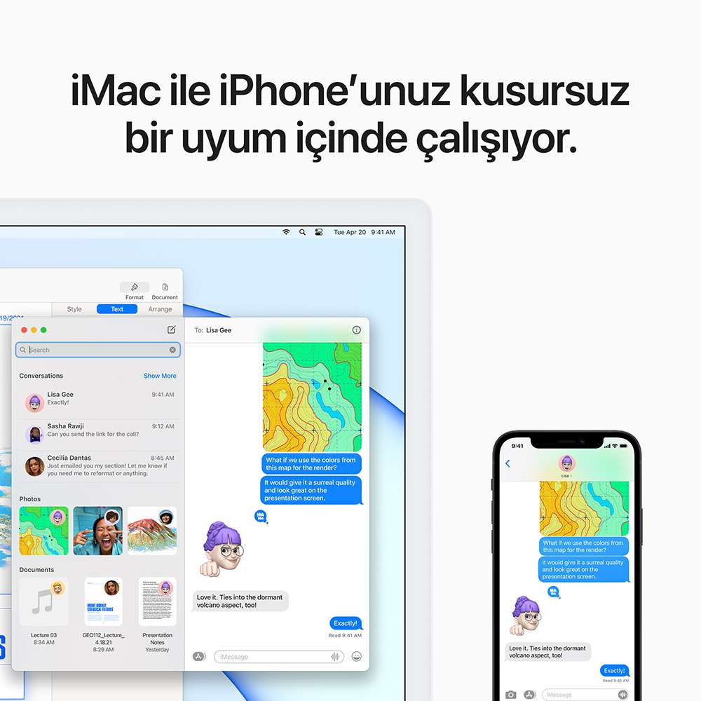 iMac 24 inç 4.5K M1 8C 8GB RAM 512GB SSD Mavi MGPL3TU/A