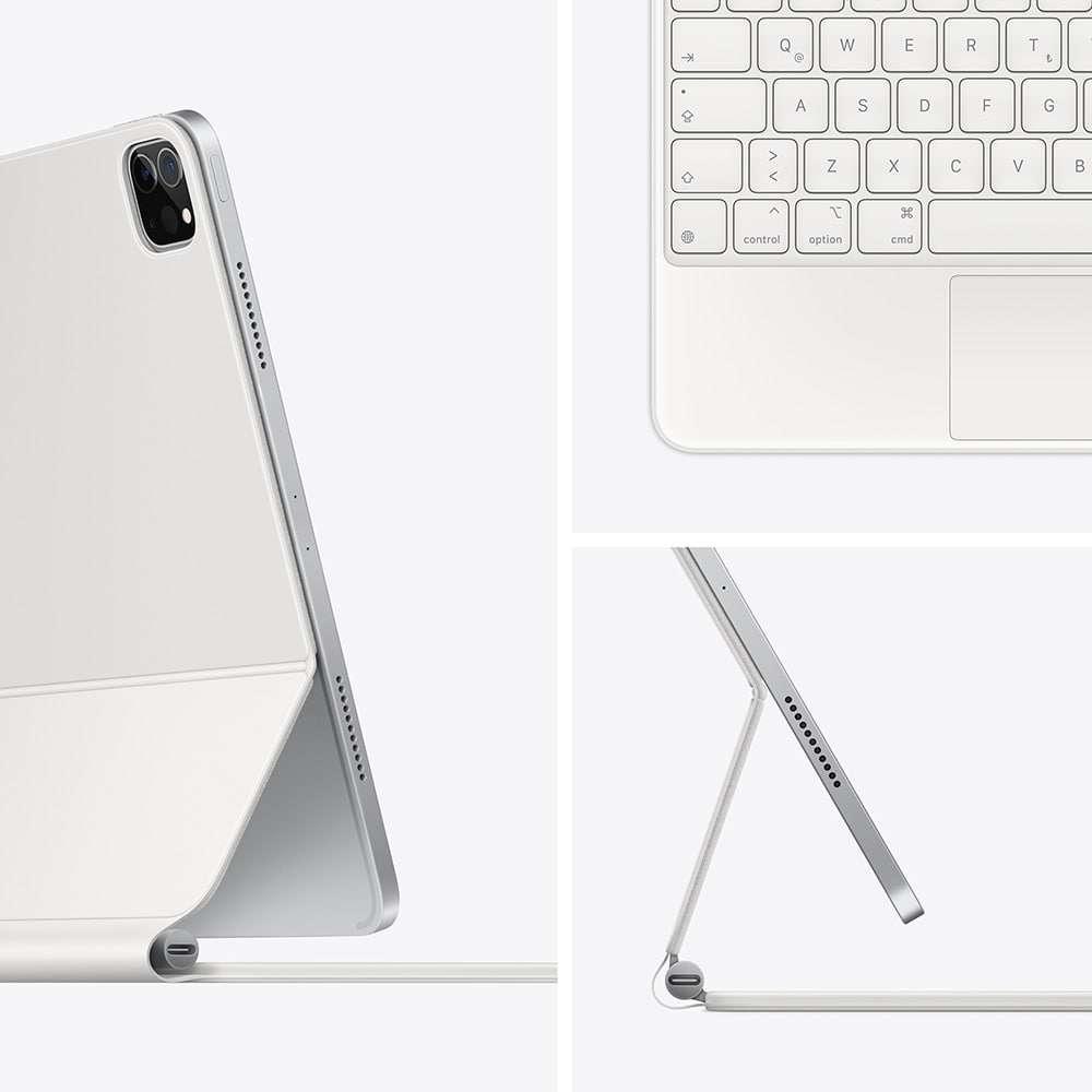 11 inç iPad Pro (3. nesil) ve iPad Air (4. nesil) için Magic Keyboard Türkçe Q Klavye Beyaz MJQJ3TQ/A