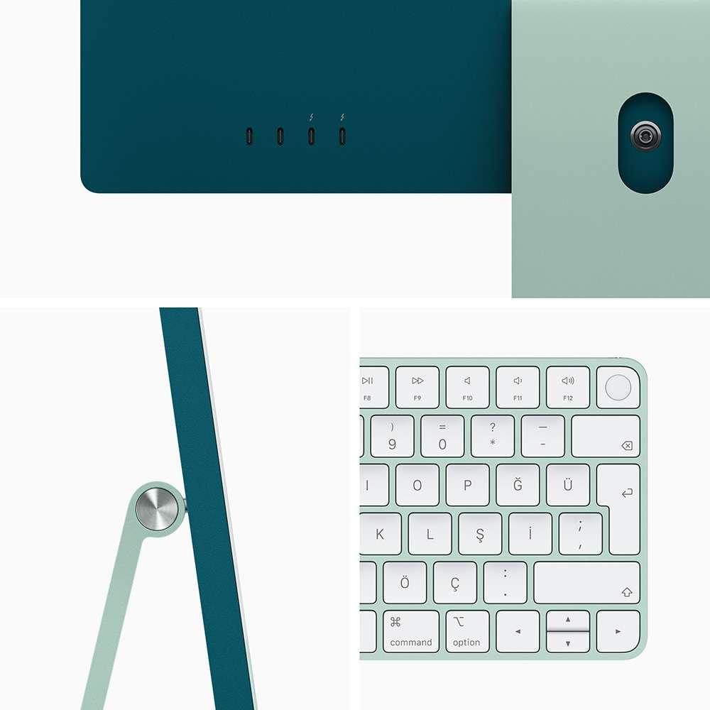 iMac 24 inç 4.5K M1 8C 8GB RAM 512GB SSD Yeşil MGPJ3TU/A