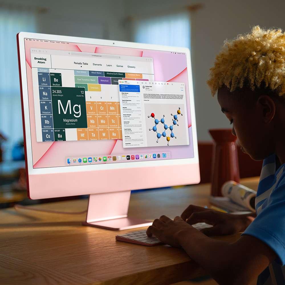 iMac 24. inç 4.5K M1 8C 8GB RAM 512GB SSD Pembe MGPN3TU/A